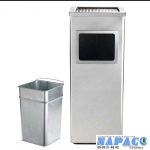 Thùng rác gạt tàn vuông inox A90-D