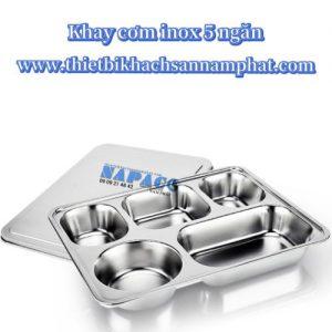 Khay cơm inox inox 5 ngăn nhỏ FP5201
